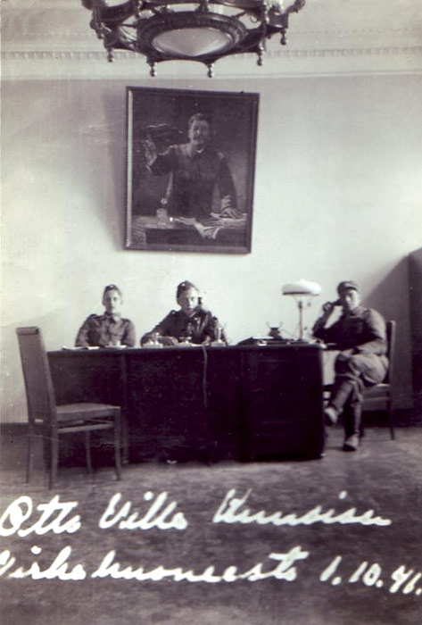 October 1, 1941. Former Kuusinen's private office