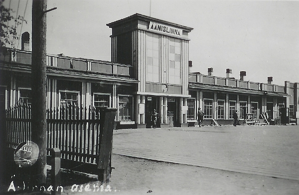 Early 1940's. The railway station