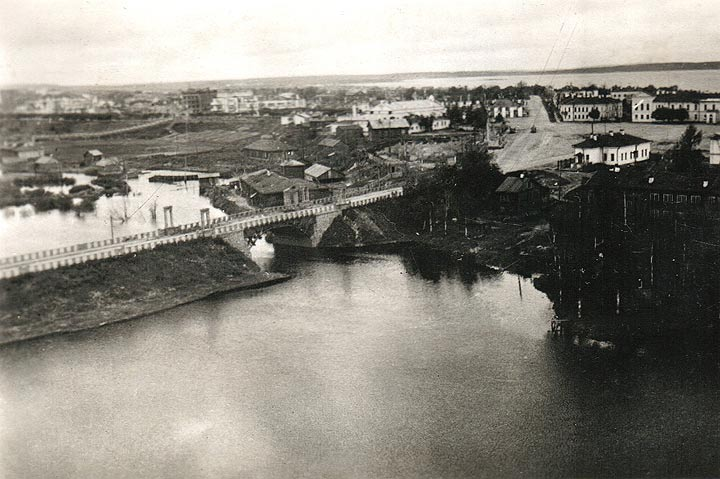 Early 1940's. A view from the parachute tower