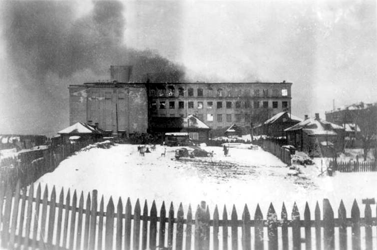 December 11, 1942. Fire in the university building