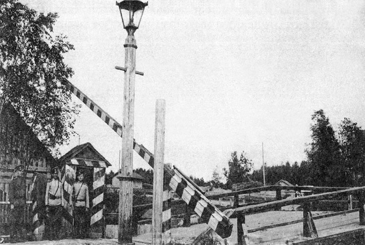 Early 1900's. Border of the Autonomous Grand Duchy of Finland