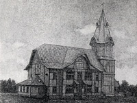 Late 1890's. The lutheran church in Stary Beloostrov