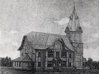 1890-luvun lopulla. Valkeasaareen luterilainen kirkko