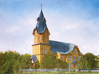 Early 1910's. The lutheran church in Stary Beloostrov