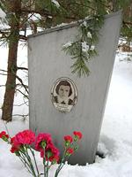 11. huhtikuuta 2009. Hauta Besovetsin kalmistossa
