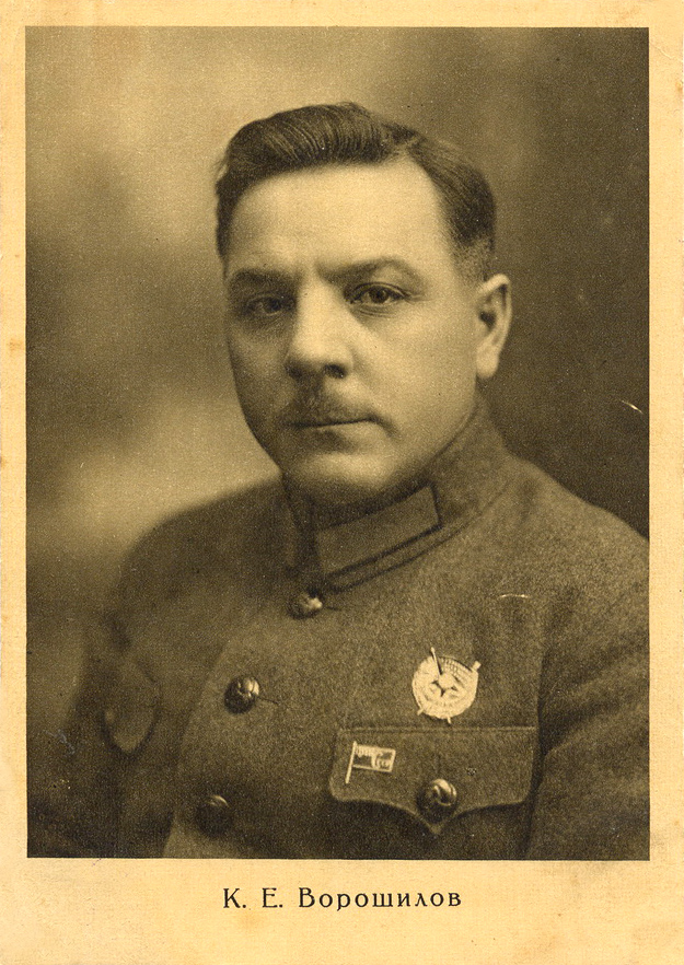 Late 1920's. People's Commissar for Military and Naval Affairs Kliment Yefremovitch Voroshilov