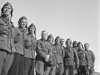10 апреля 1942 года. Слева направо: Väinö Pokela, Lauri Nissinen, Urho Lehto, Lauri Pekuri, Leo Ahola, Uolevi Alvesalo, Martti Salovaara, Jouko Lilja, Eero Kinnunen, Aarne Korhonen, Martti Lehtovaara и Armas Lehtiö