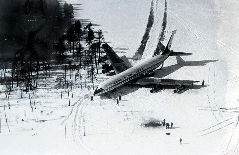 21 апреля 1978 года. Boeing-707 на льду озера Корпиярви