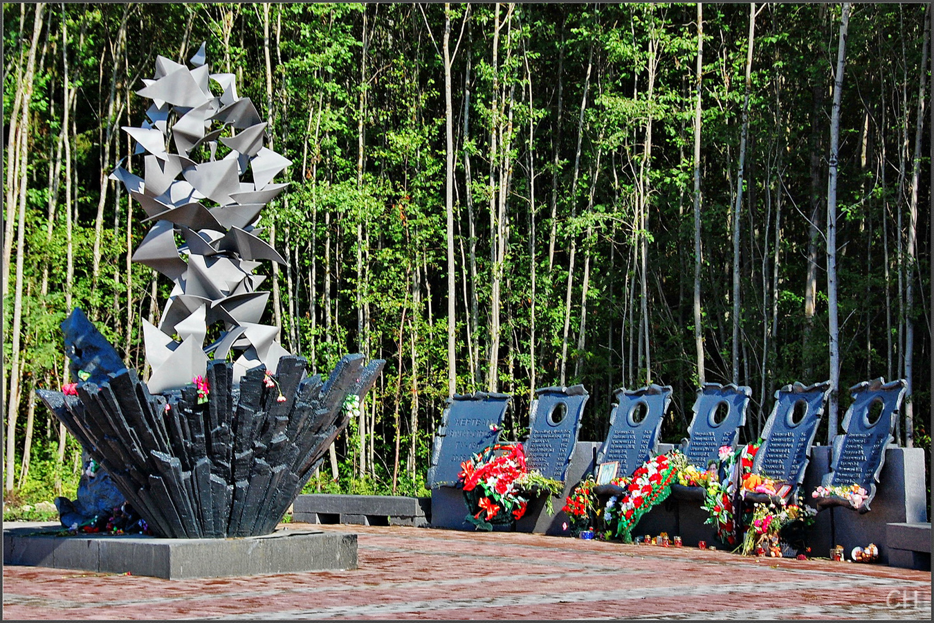 July 14, 2012. A monument at the crash site