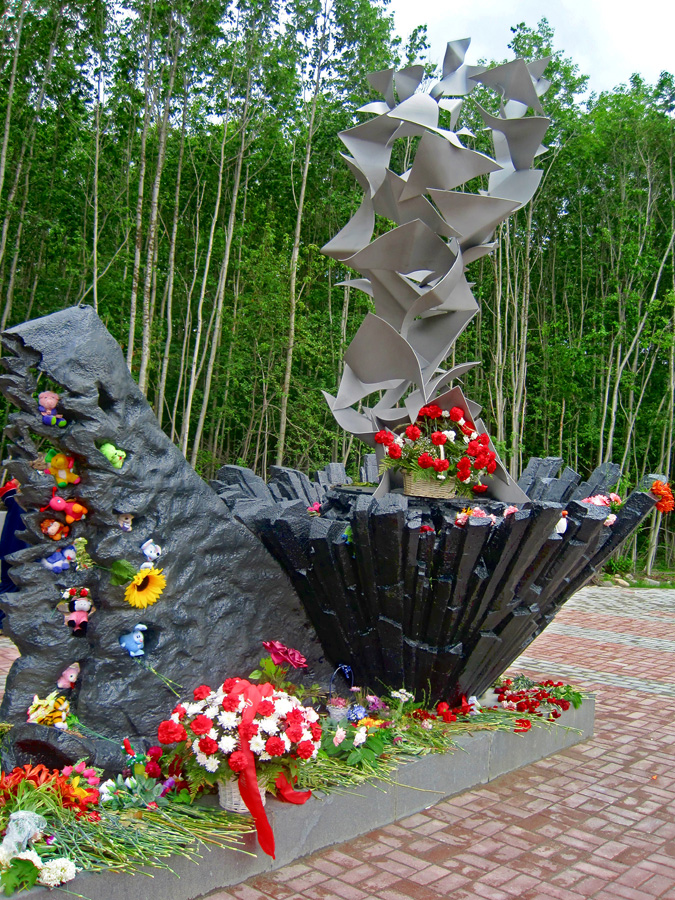 June 27, 2012. A monument at the crash site