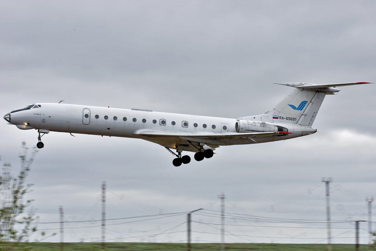 June 20, 2011. Rusair airline Tupolev Tu-134A-3 (registry RA-65691)