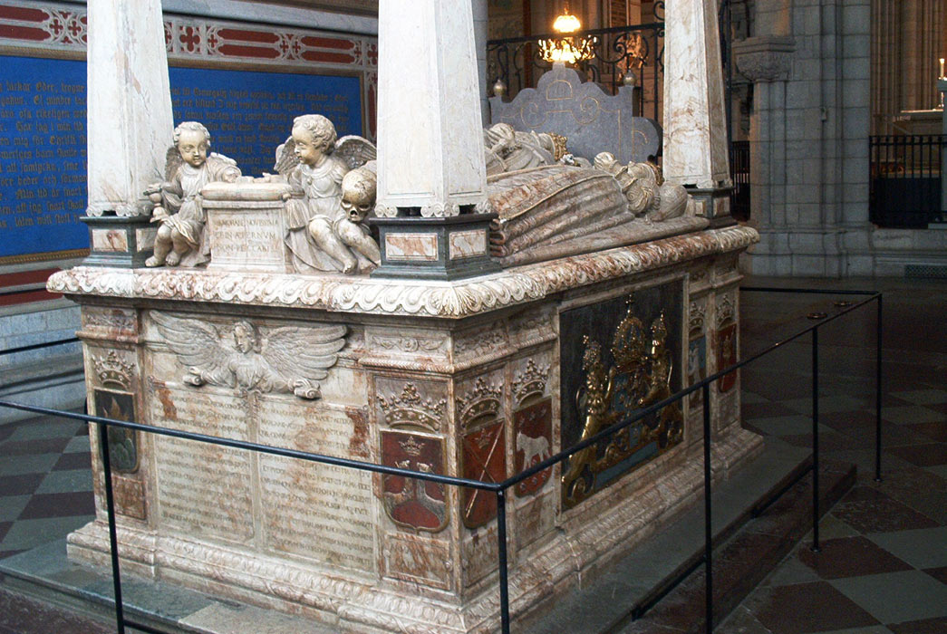 June 13, 2003. The sarcophagus of Swedish King Gustav Vasa in the Uppsala Cathedral