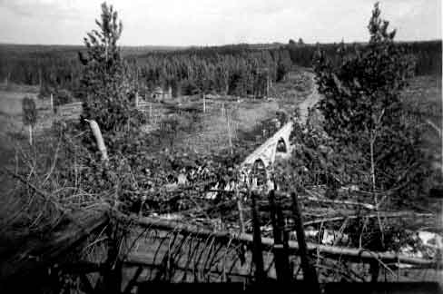 July 1941. Railway Bridge across the Jänisjoki River