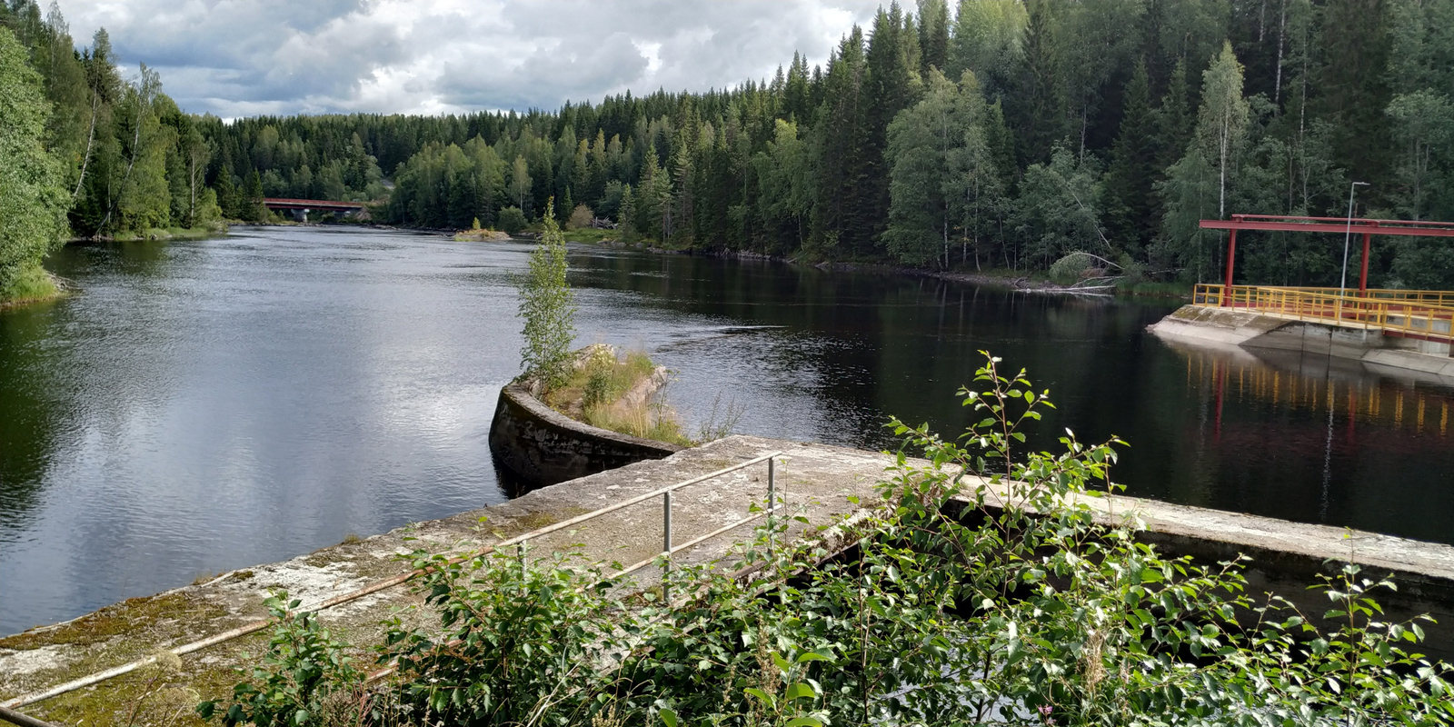 August 16, 2019. Hämekoski hydroelectric power plant