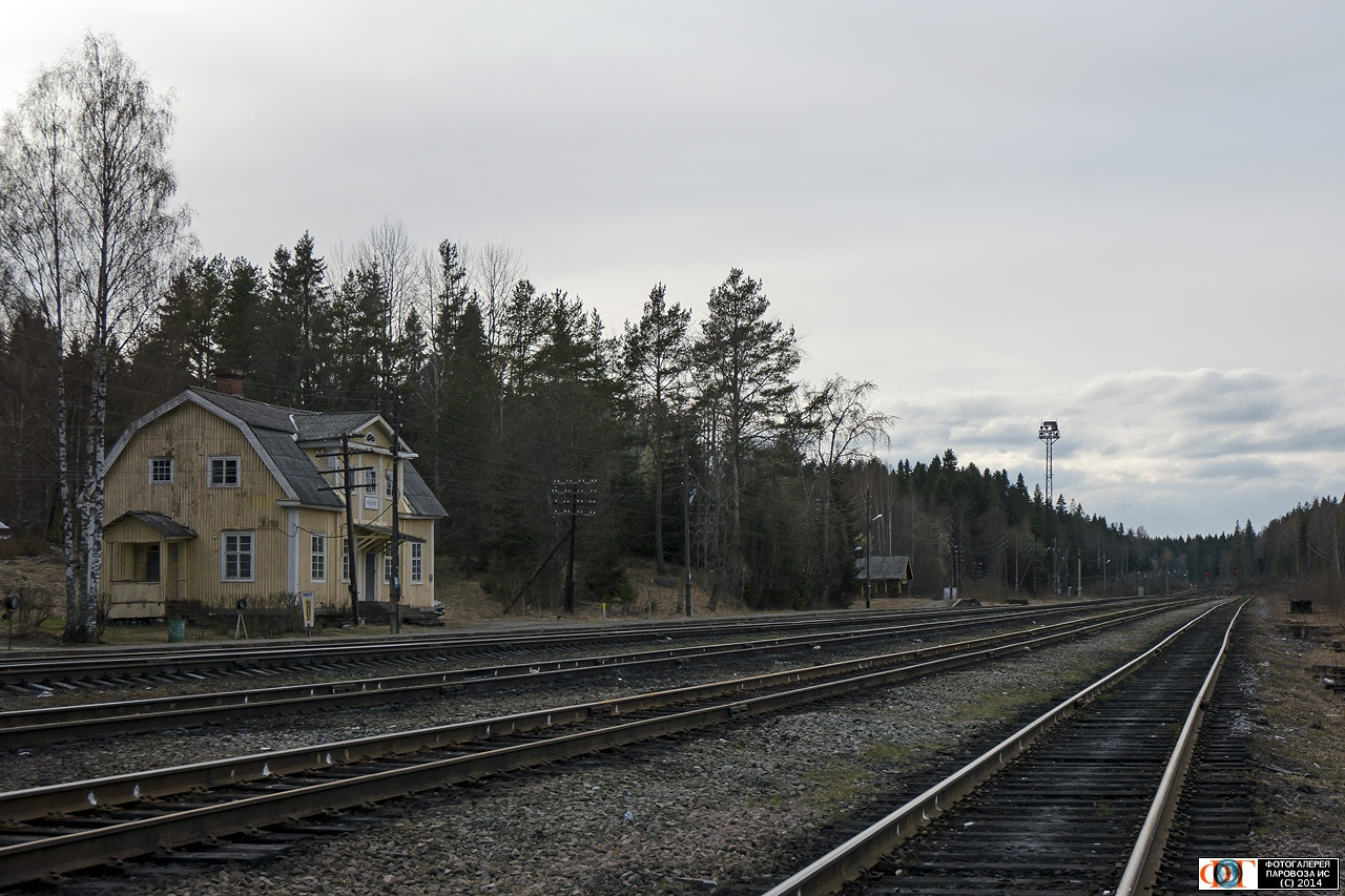 June 6, 2014. Janisjärvi Railway Station