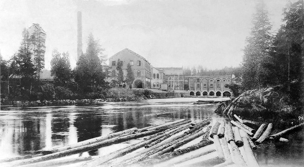 Early 1900's. Hämekoski. Factory