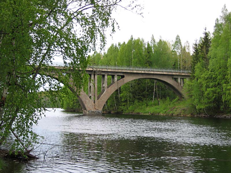 June 8, 2006. Railway Bridge across the Jänisjoki River