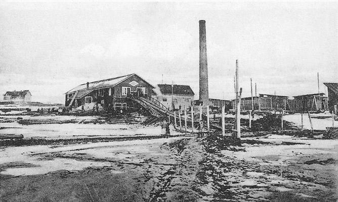 1910-е годы. Лесозавод Ляскеля