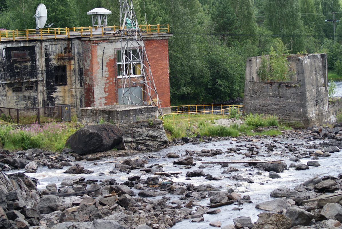 July 19, 2010. Hämekoski hydroelectric power plant