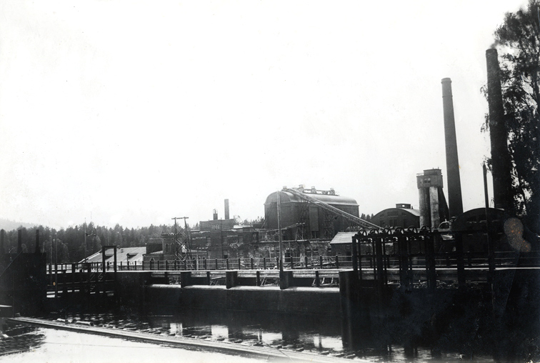 1932. Leppäkoski. Sulphite pulp and paper mill