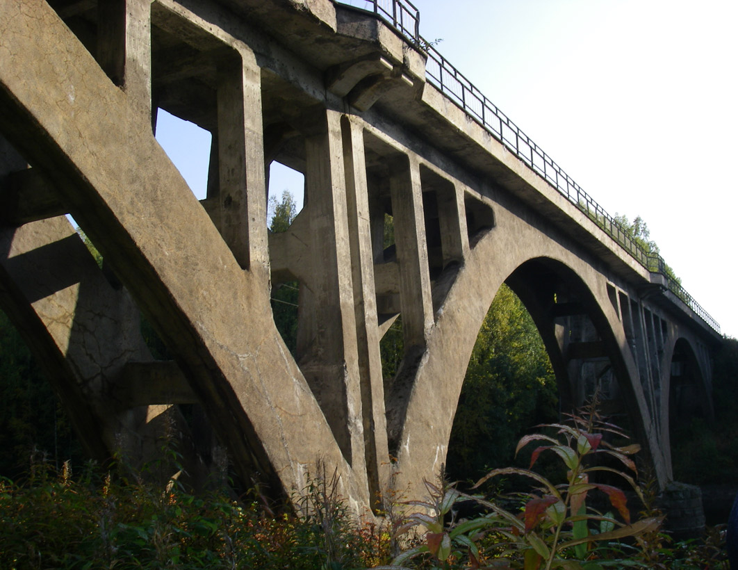 September 21, 2008. Railway Bridge across the Jänisjoki River