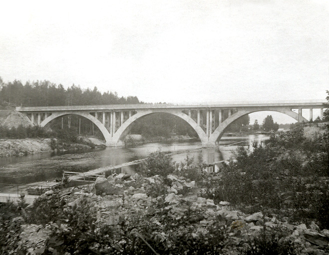 1930's. Railway Bridge across the Jänisjoki River
