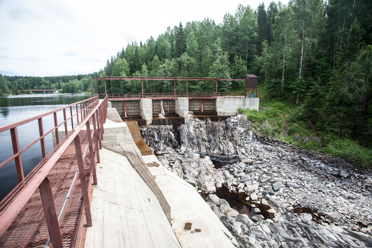 June 23, 2013. Hämekoski hydroelectric power plant