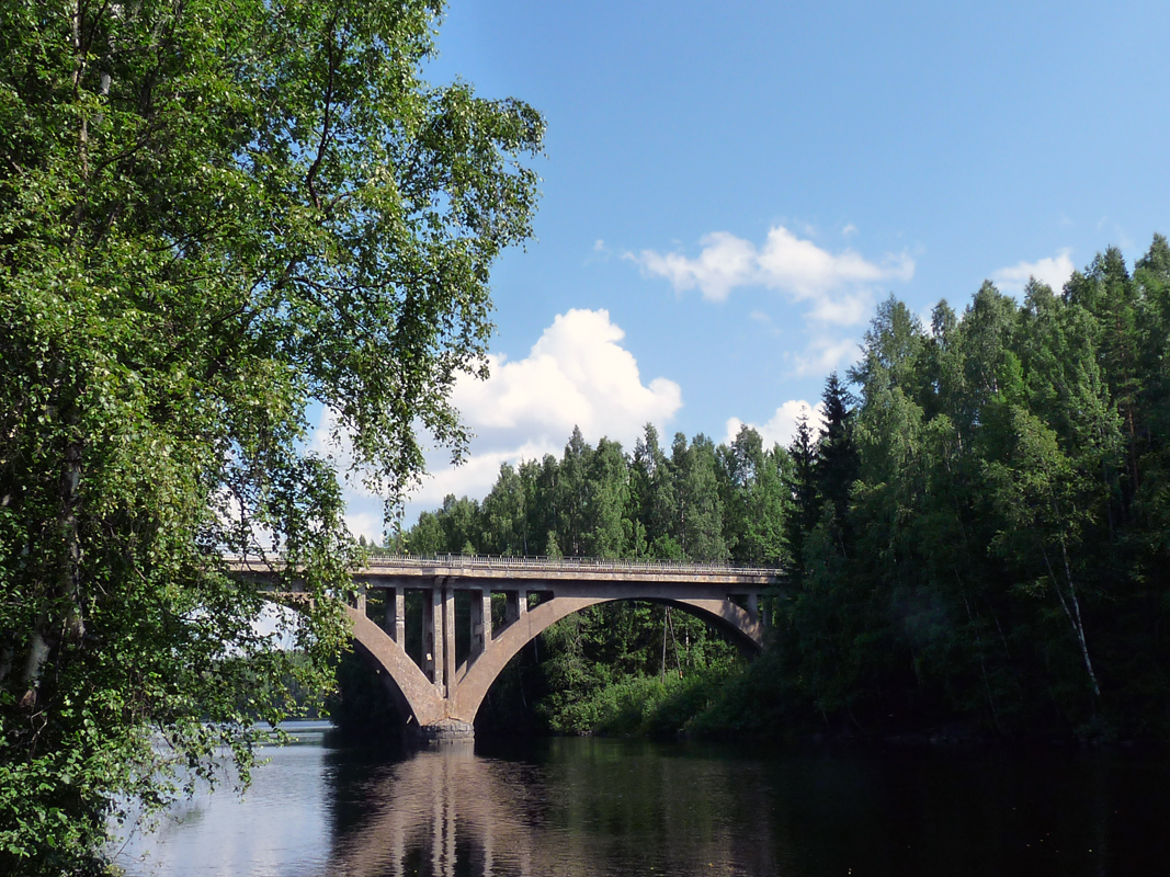 July 9, 2011. Railway Bridge across the Jänisjoki River