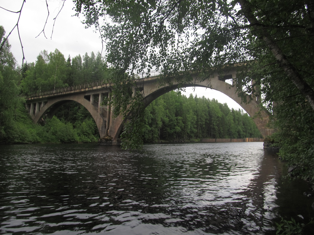 June 15, 2013. Railway Bridge across the Jänisjoki River