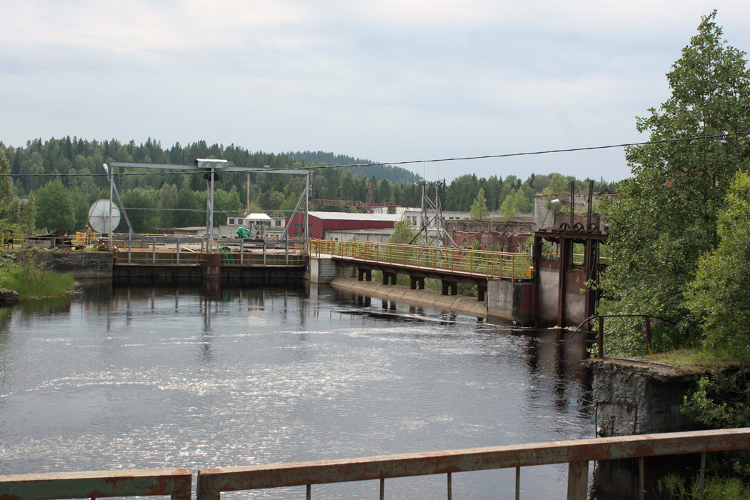 July 25, 2009. Leppäkoski hydroelectric power plant