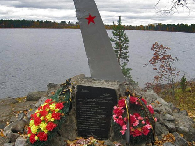 October 2008. New monument at the crash site
