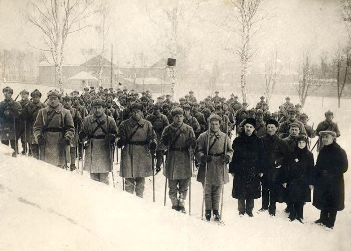 March 12, 1930. The first company of the Karelian jäger battalion