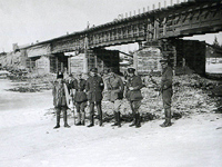 March 1919. Reconstructed railway bridge across the Onda River