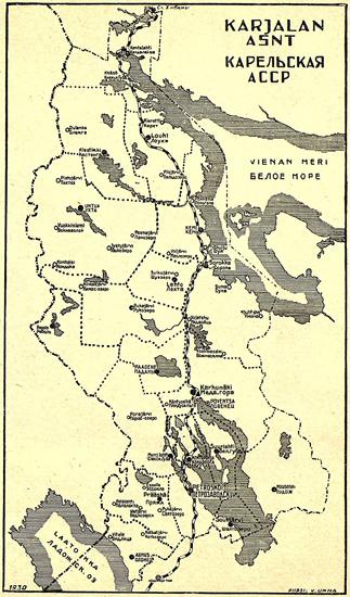 1930. Administrative map of the Karelian ASSR