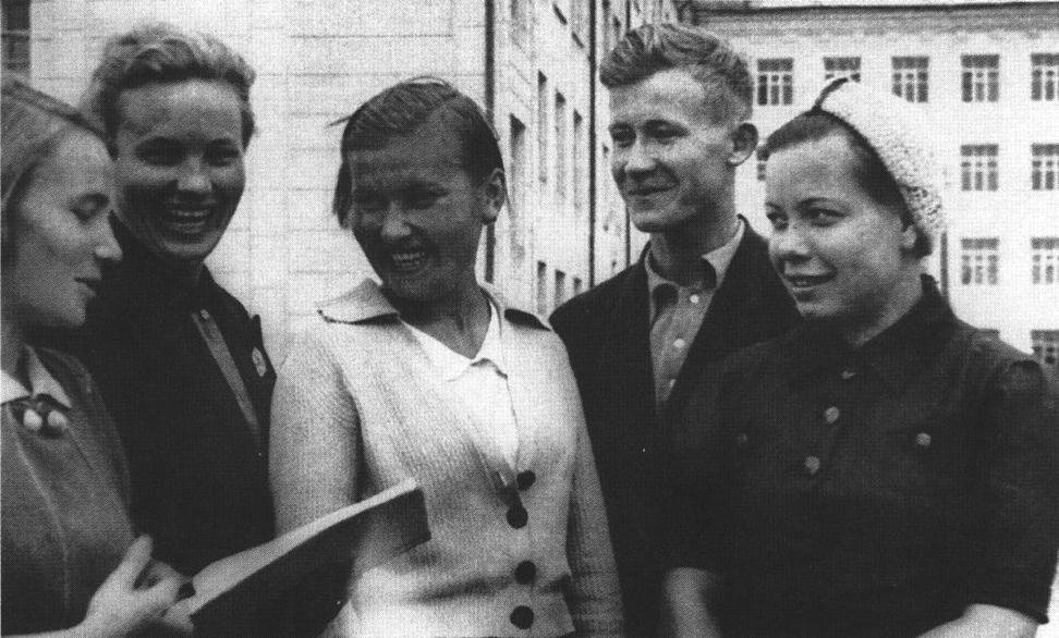 1940. Students of the Karelian-Finnish University