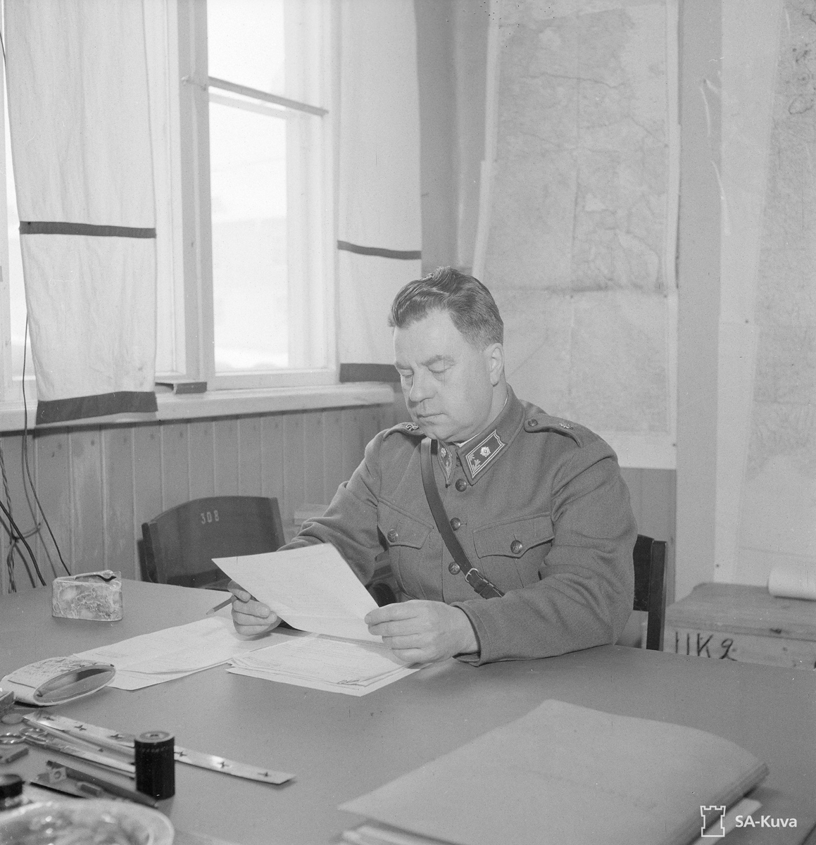 1942 год. Майор Ханнес Вехнияйнен