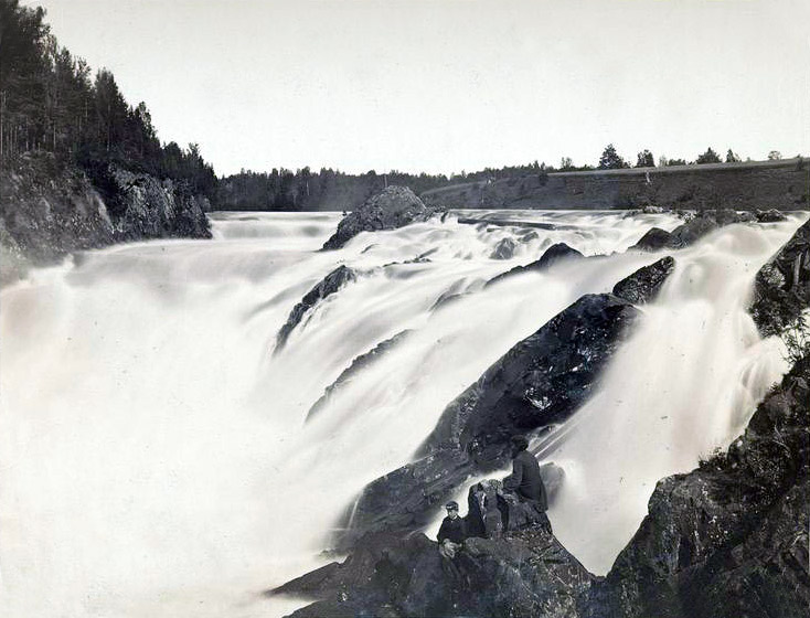 1880's. Kivatch Waterfalls