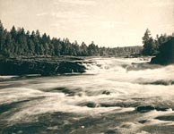 1915. Suna River. Girvas Waterfalls