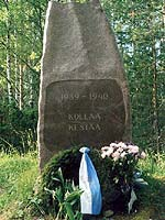 Kollasj&auml;rvi. The memorial &quot;Kollaa holds on. 1939-1940&quot;