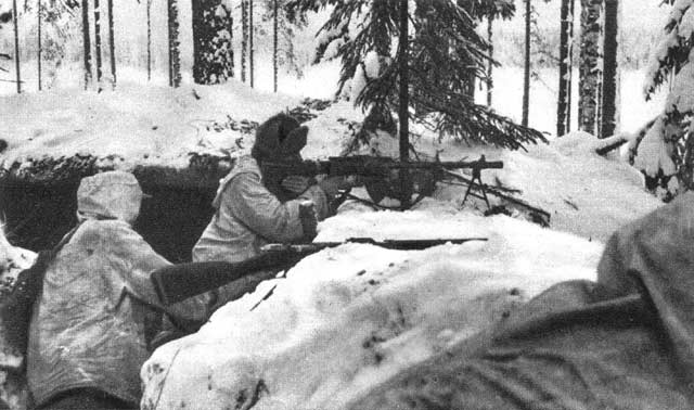 1940. Finnish soldiers in Kollaa Front