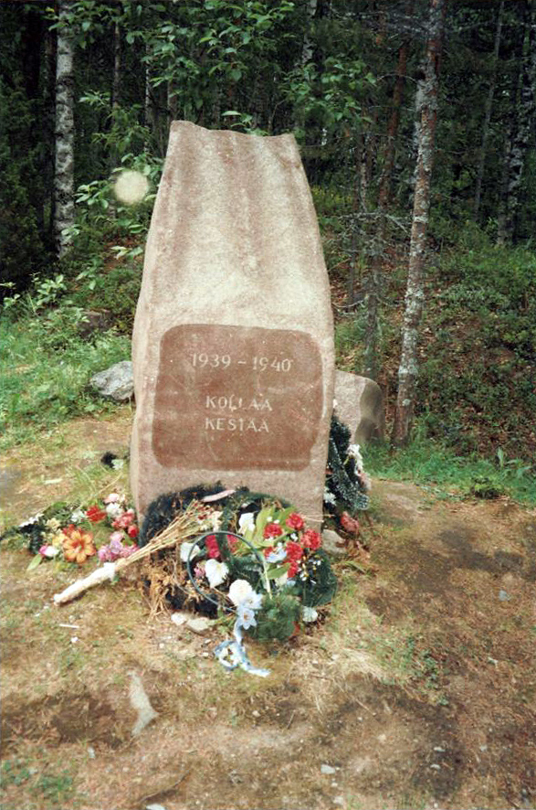 "Early 2000's. Kollasjärvi. The memorial ""Kollaa holds on. 1939-1940"""