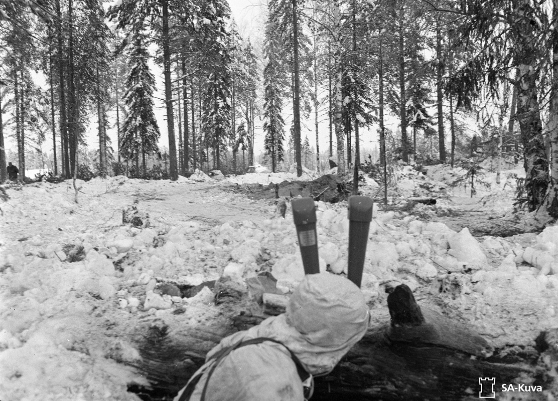 December 10, 1939. Finnish soldiers in Kollaa Front
