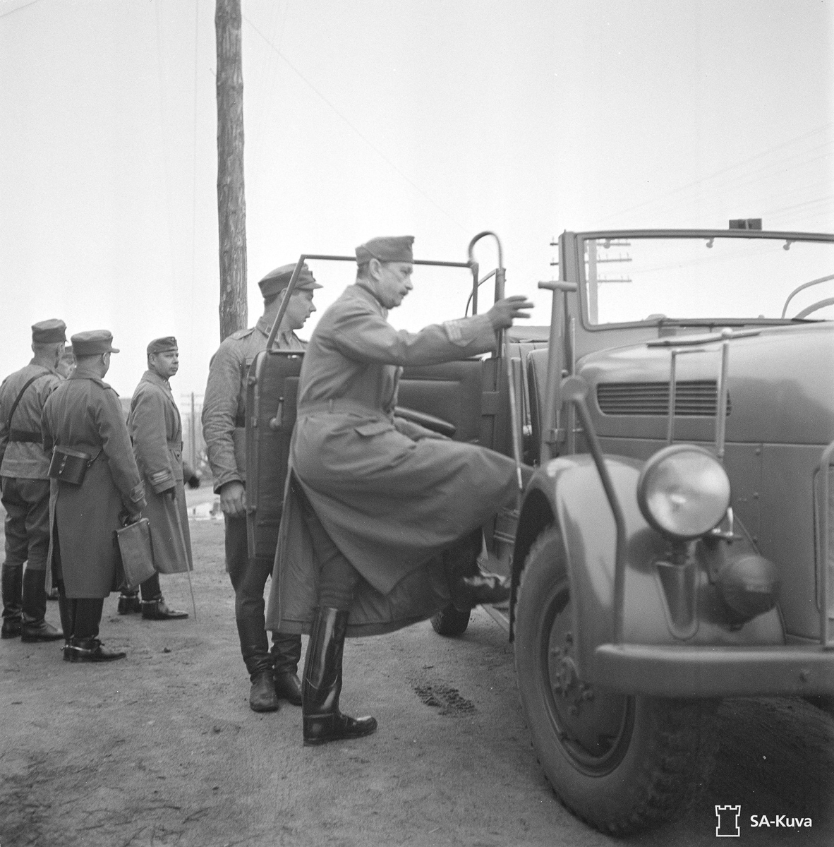 June 20, 1942. Mannerheim in Medvezhegorsk