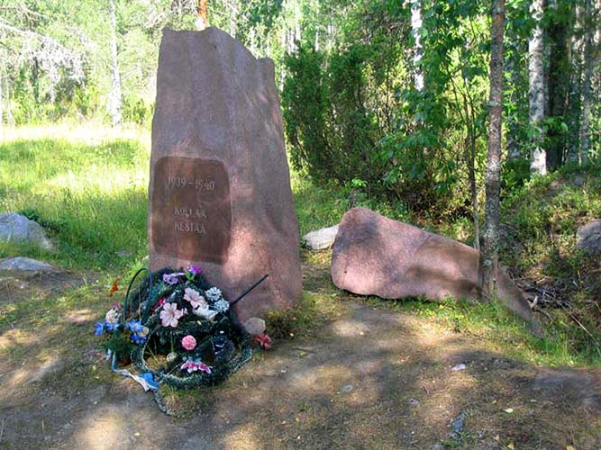 "July 31, 2006. Kollasjärvi. The memorial ""Kollaa holds on. 1939-1940"""