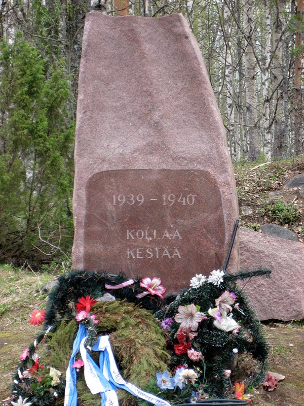 "May 20, 2007. Kollasjärvi. The memorial ""Kollaa holds on. 1939-1940"""