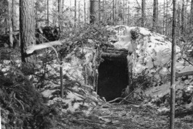 March 1940. Kollaa. Finnish lines on Black Hill