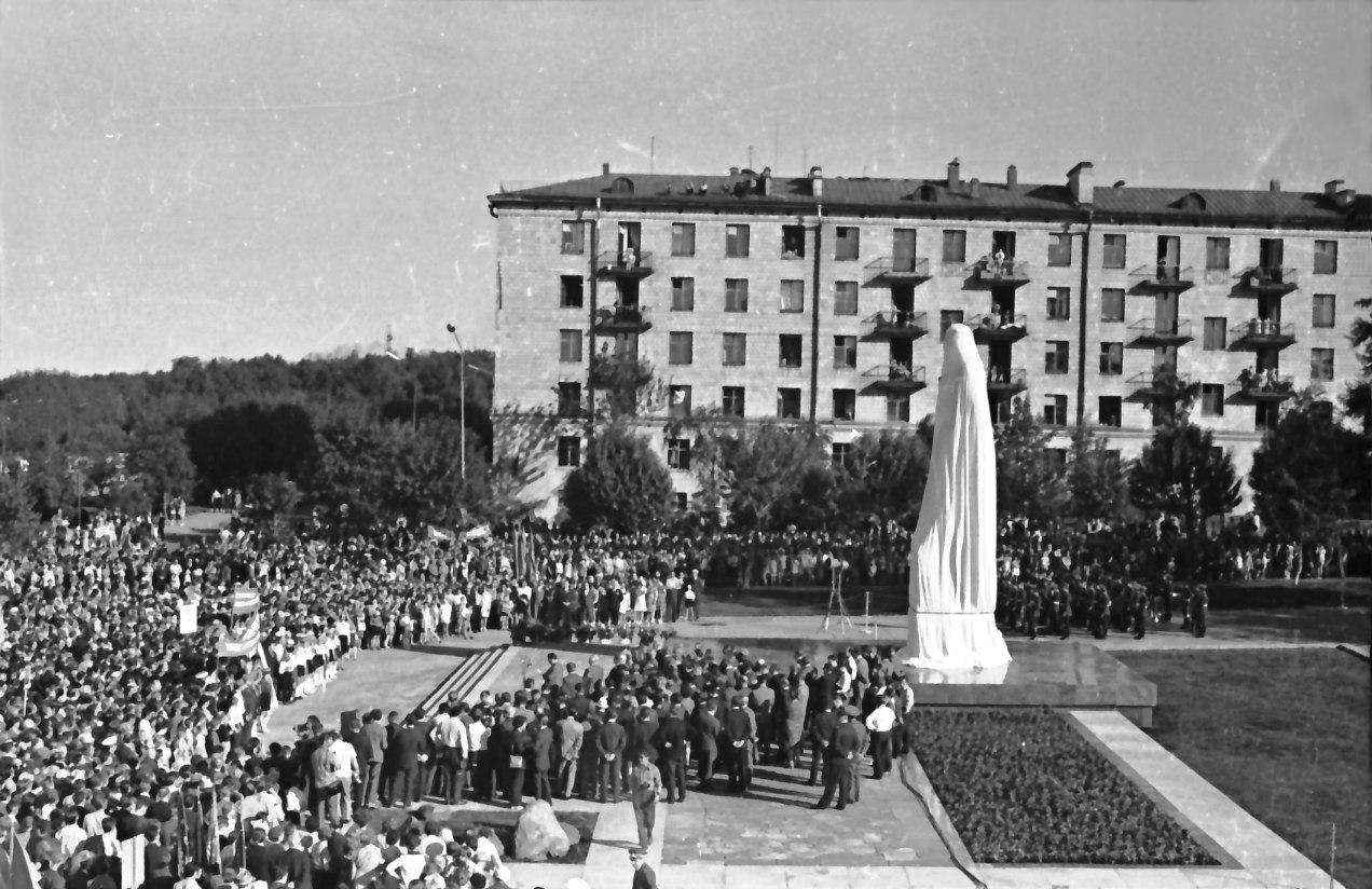 22. kesäkuuta 1973. Kuusisen monumentin paljastus Petroskoissa