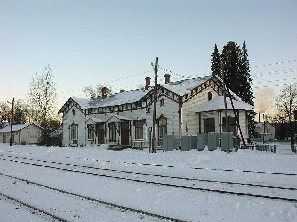 February 21, 2009. Jaakkima Railway Station