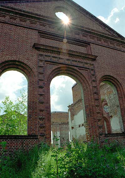 July 2003. Ruins of the church