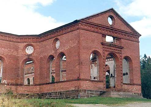 August 22, 2001. Ruins of the church